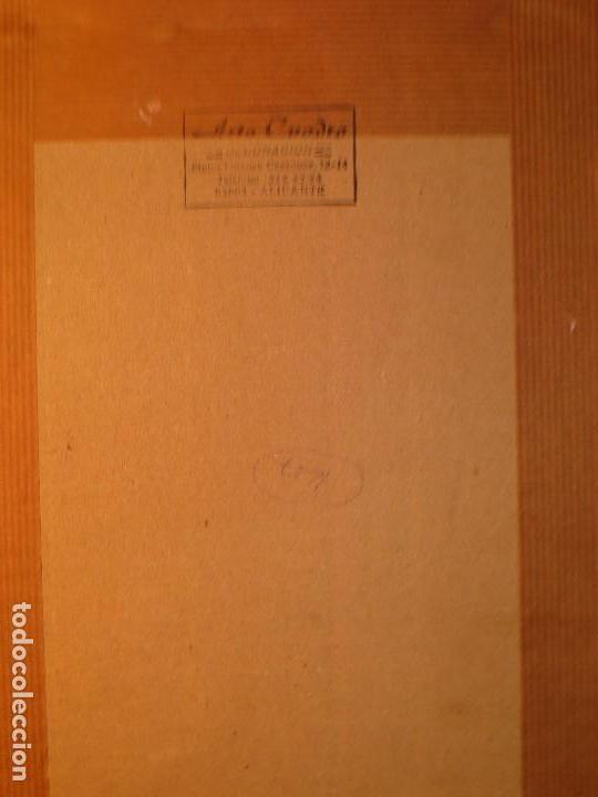 Arte: ALICANTINA CON ABANICO ANTIGUO DIBUJO ORIGINAL ALICANTE DEDICATORIA A RAQUEL FIRMA R. - Foto 4 - 130254158