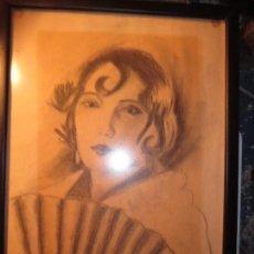 Arte: MUY ANTIGUO DIBUJO ALICANTE DEDICATORIA A RAQUEL FIRMA R.. Lote 130254158