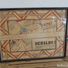 Arte: BONITO CUADRO ESTILO TRAMPANTOJO FIRMADO DEDICADO SEVILLA MERCADO DE TRIANA 1903 RELIZADO A PLUMA. Lote 130322674