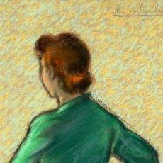 Arte: RAMÓN RIBAS RIUS (BARCELONA, 1903 - 1983) TÉCNICA MIXTA SOBRE PAPEL. UN BAILARIN DEL LICEO. Lote 130369694