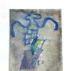 Arte: SAPS. TÉCNICA MIXTA SOBRE PAPEL. ALBERT GONZALO CARBÓ. 1998.. Lote 130380766