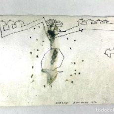 Arte: CIUDAD. TÉCNICA MIXTA SOBRE PAPEL. ALBERT GONZALO CARBÓ. 1997.. Lote 130381290