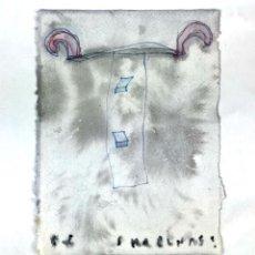 Arte: ABSTRACCIÓN. TÉCNICA MIXTA SOBRE PAPEL. ALBERT GONZALO CARBÓ. 1998.. Lote 130386418