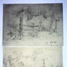 Arte: PUERTA PARA ANIMALES, DEL PAIS VASCO. DIBUJO. FIRMADO (FRANCESC) DOMINGO. ESPAÑA. XX. Lote 130413178