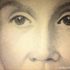 Arte: RETRATO DE DAMA. CARBONCILLO SOBRE PAPEL. FIRMADO (FRANCESC) DOMINGO. BRASIL(?).XX. Lote 130483546