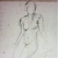 Arte: VENUS. CARBONCILLO SOBRE PAPEL. FIRMADO (FRANCESC) DOMINGO. BRASIL(?). XX. Lote 130503554