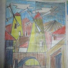 Arte: RAROS DIBUJOS ANTIGUOS CUBISTAS. Lote 130643166