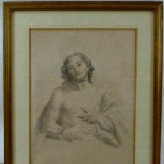 Arte: HERMOSO DIBUJO DE CRISTO SOBRE PAPEL-FINALES S XVIII- PRINCIPIOS S XIX- SIN FIRMA. Lote 130679964