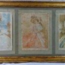 Arte: 3 DIBUJOS S XVIII - ESCUELA FRANCESA. Lote 130775496