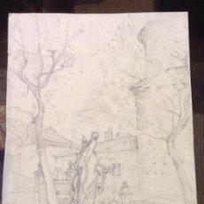Arte: MANUEL GARCÍA RODRÍGUEZ. PLAZA DE UNA CIUDAD.. Lote 130886888