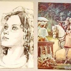 Arte: BONITO LOTE DE ILUSTRACIONES DE I.R. CHILLÓN - EXTRAÍDAS DE LIBRO 1979 - 28,5X21CM. Lote 130925288