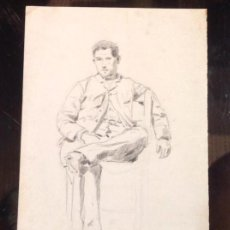 Arte: CECILIO PLA. RETRATO DE HOMBRE SENTADO.. Lote 130957384