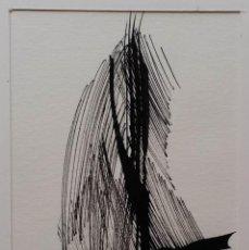 Arte: COMPOSICIÓN ABSTRACTA, DIBUJO A TINTA FIRMADO, 1967. Lote 131001520
