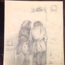 Arte: FRANCISCO JAVIER ORTEGA. PERSONAJES DE ESPALDAS.. Lote 131011832