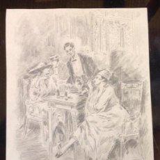 Arte: RICARDO OPISSO. ESCENA EN EL CAFÉ.. Lote 131023036