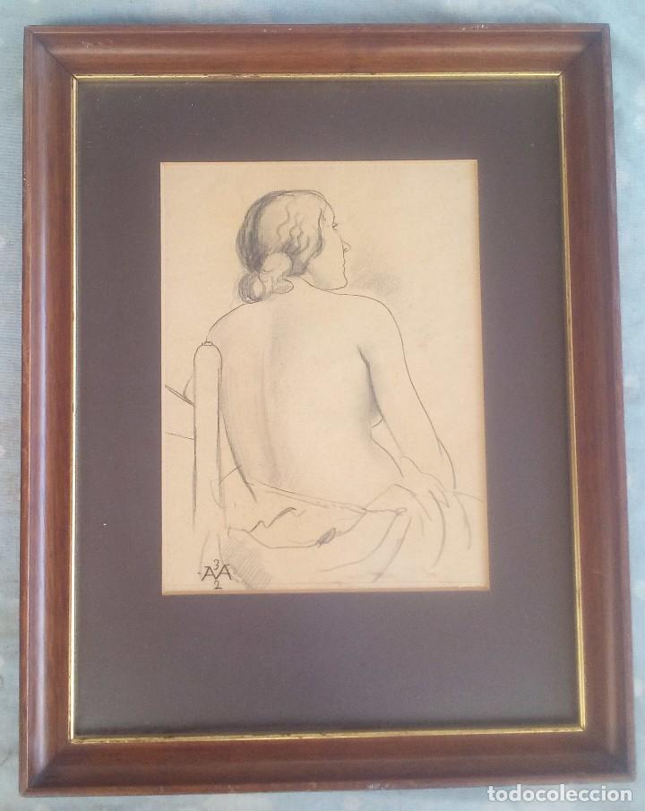 Arte: Dibujo de Antoni Vila Arrufat del año 1932 - Foto 2 - 131146040