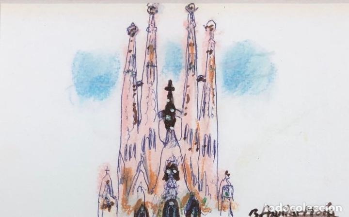 AGUILAR MORÉ - TÉCNICA MIXTA SOBRE PAPEL - FIRMADO (Arte - Dibujos - Contemporáneos siglo XX)