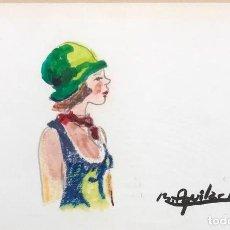 Arte: AGUILAR MORÉ - TÉCNICA MIXTA SOBRE PAPEL - FIRMADO. Lote 131281939