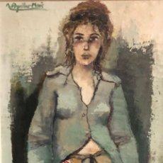 Arte: AGUILAR MORÉ - TÉCNICA MIXTA SOBRE MADERA - FIRMADA. Lote 131282035