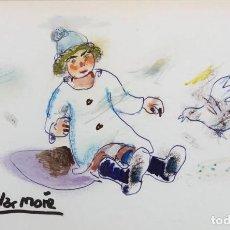 Arte: AGUILAR MORÉ - TÉCNICA MIXTA SOBRE PAPEL - FIRMADO. Lote 131282091