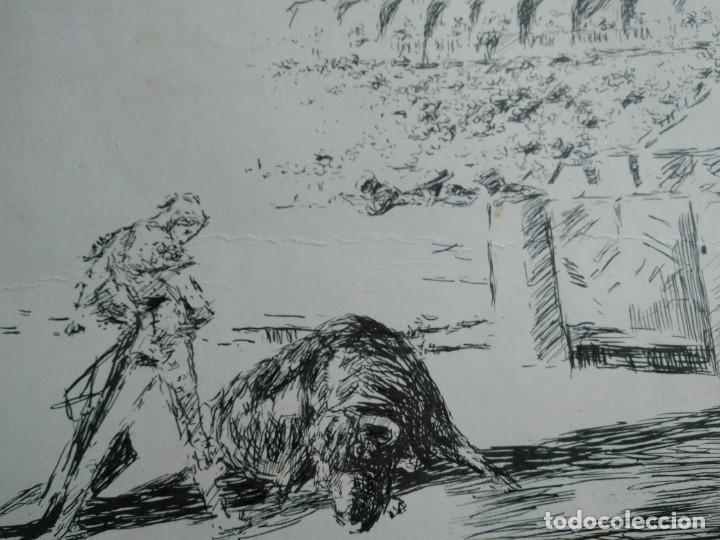 APUNTE DE TEMA TAURINO . FIRMADO POR ANTONIO CASERO. MADRID 1965. 28 X 19.5 CM. (Arte - Dibujos - Contemporáneos siglo XX)