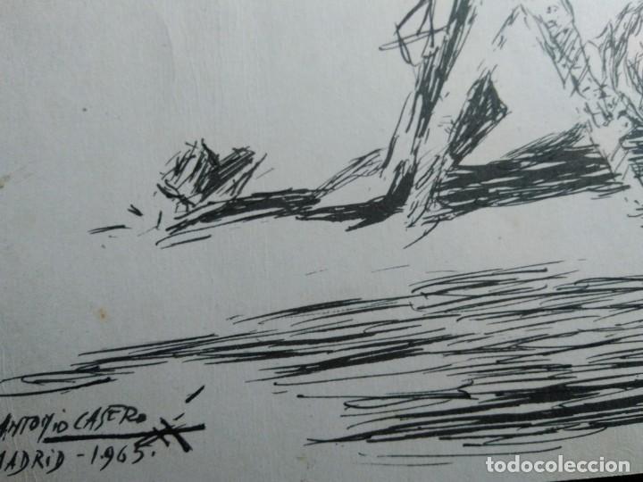 Arte: APUNTE DE TEMA TAURINO . Firmado por ANTONIO Casero. Madrid 1965. 28 X 19.5 cm. - Foto 3 - 131438362