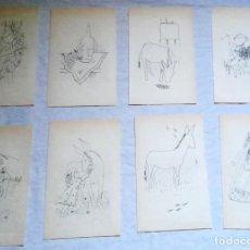 Arte: LOTE DE ILUSTRACIONES DE ASUN BALZOLA - EXTRAÍDAS DE LIBRO 1981 - 18CM. Lote 131567830