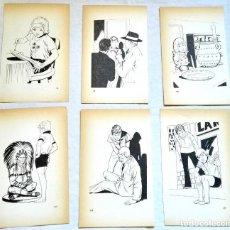 Arte: LOTE DE ILUSTRACIONES DE ANTONIO BORRELL - EXTRAÍDAS DE LIBRO 1982 - 19,5X12CM. Lote 131572750