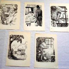 Arte: LOTE DE ILUSTRACIONES DE AURELIO BEVIÁ - EXTRAÍDAS DE LIBRO 1958 - 18X12CM. Lote 131573078