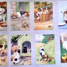 Arte: LOTE DE ILUSTRACIONES DE H. WOOLLEY - EXTRAIDAS DE LIBRO 1956 - 18X11CM. Lote 131590262
