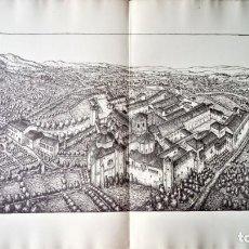 Arte: GRABADO ORIGINAL AÑO 1934,ANTIGUO ESTADO MONASTERIO DE POBLET,TARRAGONA,EN 1830,ANTES DE DESTRUCCION. Lote 131644866
