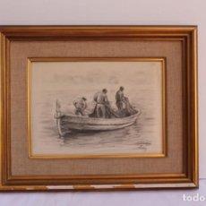 Arte: DIBUJO AL CARBONCILLO DE JOSEP TORRENT BUCH. Lote 131677874