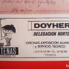 Arte: DOYHER ANTENAS.DIBUJO ORIGINAL PARA LA IMPRENTA. PUBLICIDAD DORSAL ENTRADAS TOROS PAMPLONA. Lote 131977434