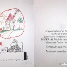 Arte: DIBUJO EL PERICH PARA API BARCELONA TIRADA NUMERADA FIRMADA LIMITADA 024 DE 400 NOVIEMBRE 1992. Lote 131981418