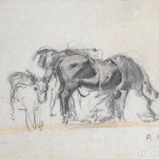 Arte: RICARD ARENYS - DIBUJO SOBRE PAPEL - FIRMADO. Lote 131991142