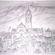 Arte: LOTE DE 20 PAISAJES. GRAFITO SOBRE PAPEL. FIRMADO MOYÁ. ESPAÑA. 1950-1951. Lote 132003590