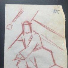 Arte: DIBUJO A CERAS SOBRE PAPEL DE 1960 APROX. . Lote 132091194