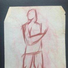 Arte: DIBUJO A CERAS SOBRE PAPEL DE 1960 APROX. . Lote 132091266