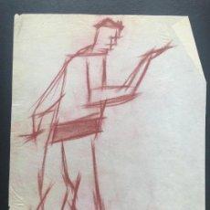 Arte: DIBUJO A CERAS SOBRE PAPEL DE 1960 APROX. . Lote 132091318