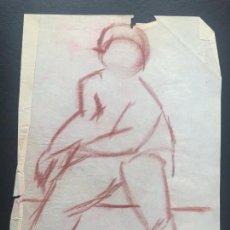 Arte: DIBUJO A CERAS SOBRE PAPEL DE 1960 APROX. . Lote 132091370