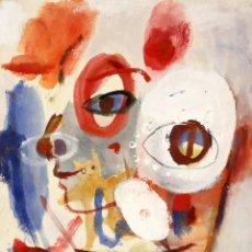 Arte: ROSA AGENJO (BARCELONA, 1955) TECNICA MIXTA SOBRE CARTULINA. TEMA ABSTRACTO. Lote 132198802
