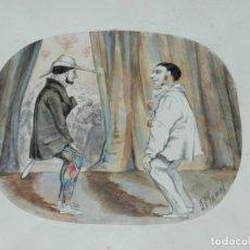 Arte: (M) DIBUJO ORIGINAL FIRMADO E PLANAS ( EUSEBIO PLANAS ) DIBUJO ESCENA TEATRO , ORIGINAL. Lote 132371862