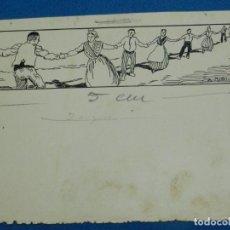 Arte: (AU5) DIBUJO ORIGINAL DE A UTRILLO - 25'5 X 13 CM, BUEN ESTADO. Lote 132372502