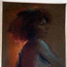 Art: ENRIC BERTRAN - DIBUJO PASTEL ASPECTO DIFUMINADO SOBRE PAPEL 45X33 NO ENMARCADA. Lote 132503946
