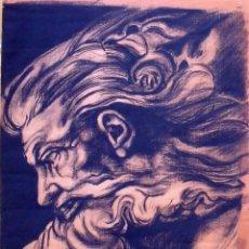 Arte: DIBUJO A CARBÓN. 1999. WAYLON JENNINGS, JIMI HENDRIX, ELVIS SEGOVIA, BUDDY HOLLY Y RICKY RAINBOW.. Lote 132892738