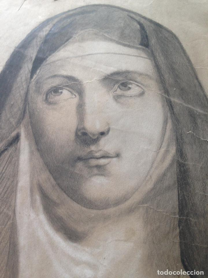 Arte: DIBUJO SIGLO XIX - CARBONCILLO - DIBUJO ACADEMIA - Foto 2 - 133014234