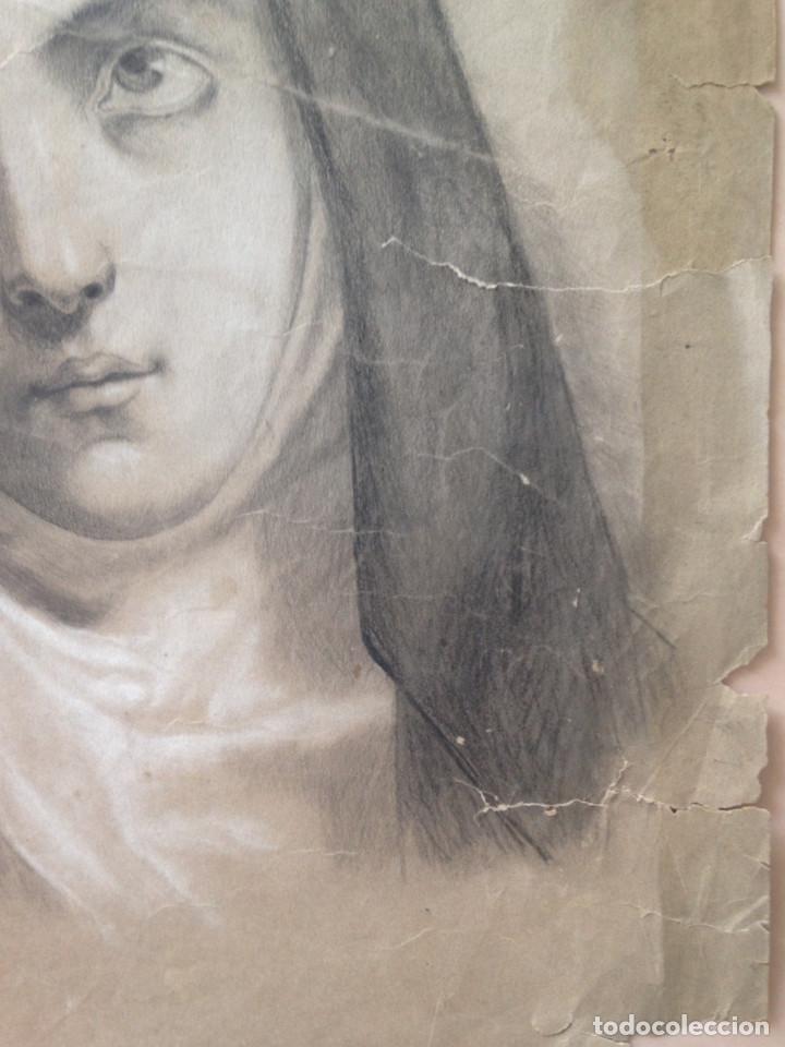 Arte: DIBUJO SIGLO XIX - CARBONCILLO - DIBUJO ACADEMIA - Foto 4 - 133014234