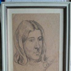 Arte: JULIO SANTIBAÑEZ (MADRID, 1.915) - DIBUJO FIRMADO Y ENMARCADO CRISTAL 45 X 35,5. Lote 53839208