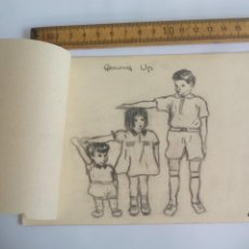 Arte: ANTIGUO DIBUJO ORIGINAL DE 1948, FIRMADO KYRA LOCK. Lote 133290718