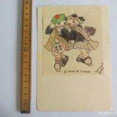 Arte: ANTIGUO DIBUJO ORIGINAL DE 1947, FIRMADO KYRA LOCK. Lote 133290782